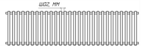 Рулонная решётка для конвектора Бриз
