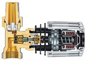 Терморегулятор Danfoss в разрезе
