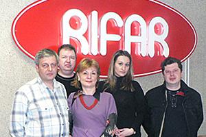 специалисты Тайм на заводе Рифар